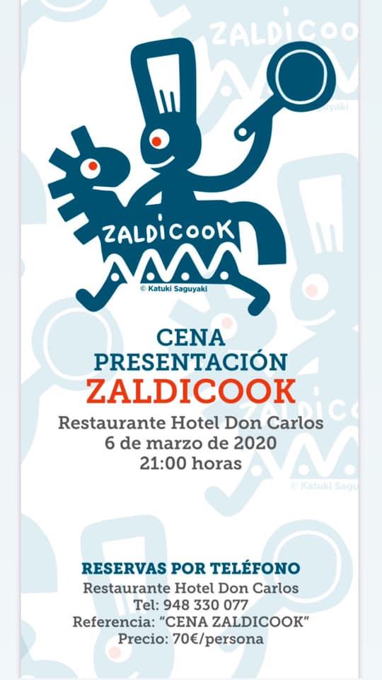 Menú Presentación Zaldicook - Restaurante Hotel DonCa